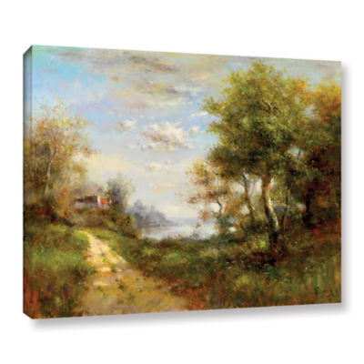 Brushstone Morning Walk Gallery Wrapped Canvas Wall Art