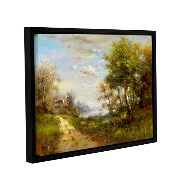 Brushstone Morning Walk Gallery Wrapped Floater-Framed Canvas Wall Art