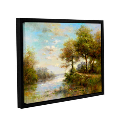 Brushstone Serenity Cove Gallery Wrapped Floater-Framed Canvas Wall Art