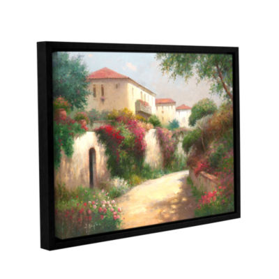 Brushstone Camminata Di Manttina Gallery Wrapped Floater-Framed Canvas
