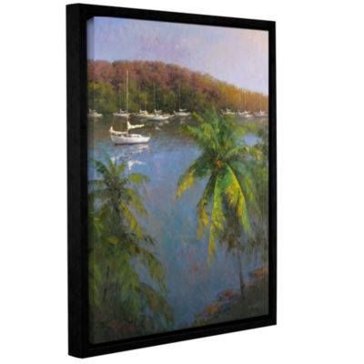Brushstone Caribbean Lagoon Gallery Wrapped Floater-Framed Canvas