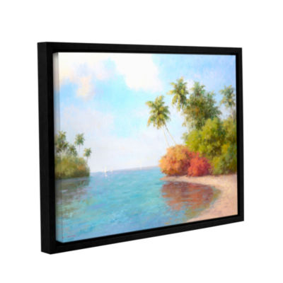 Brushstone Coco De La Playa Gallery Wrapped Floater-Framed Canvas Wall Art