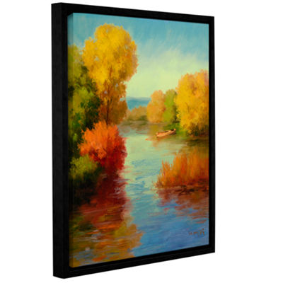 Brushstone French Canal I Gallery Wrapped Floater-Framed Canvas Wall Art