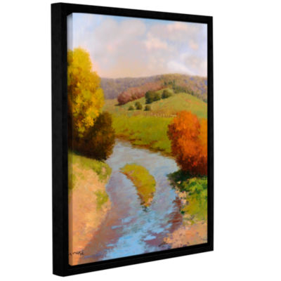 Brushstone French Canal II Gallery Wrapped Floater-Framed Canvas Wall Art