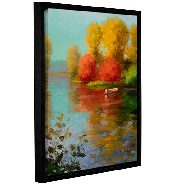 Brushstone French Canal III Gallery Wrapped Floater-Framed Canvas Wall Art