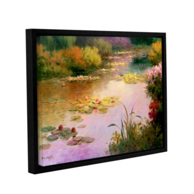 Brushstone Lillies In Giverny Gallery Wrapped Floater-Framed Canvas Wall Art