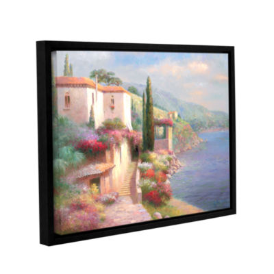 Brushstone Palazzo Della Spiaggia Gallery WrappedFloater-Framed Canvas Wall Art