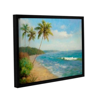 Brushstone Palma De La Playa Gallery Wrapped Floater-Framed Canvas Wall Art