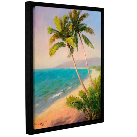 Brushstone Palms On The Beach Gallery Wrapped Floater-Framed Canvas Wall Art