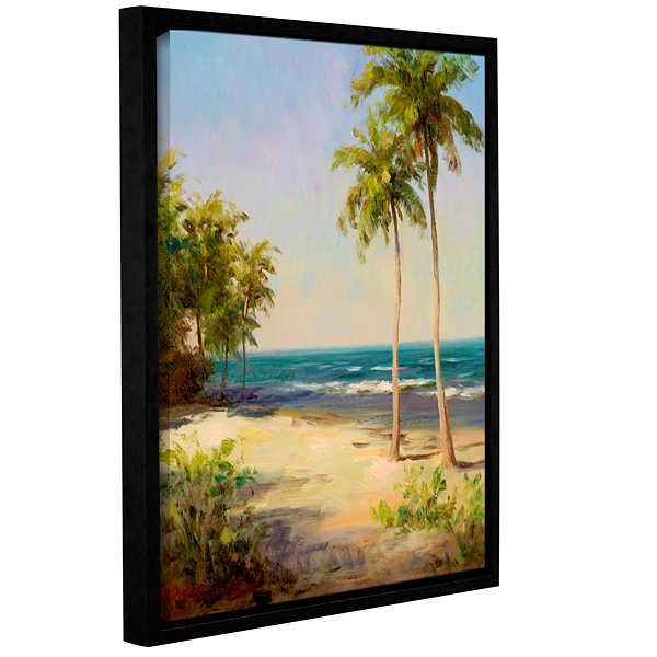 Brushstone Palms On The Beach II Gallery Wrapped Canvas Wall Art