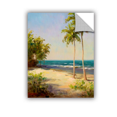 Brushstone Palms On The Beach II Removable Wall Decal