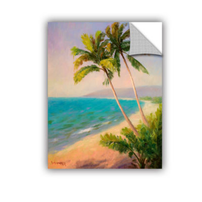 Brushstone Palms On The Beach Removable Wall Decal