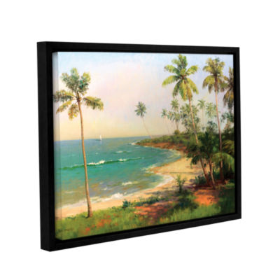 Brushstone Tropical Coastline Gallery Wrapped Canvas Wall Art