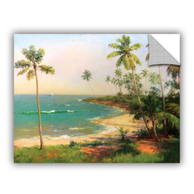 Brushstone Tropical Coastline Removable Wall Decal