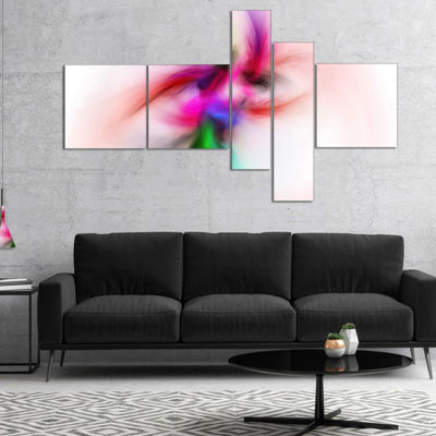Designart Colorful Electromagnetic Field Multipanel Abstract Wall Art Canvas - 5 Panels