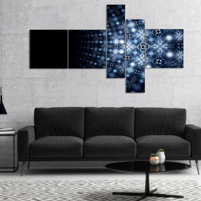 Designart Digital Fractal Flower Perspective Multipanel Abstract Wall Art Canvas - 4 Panels