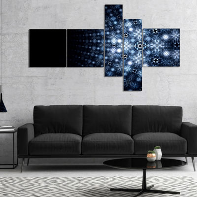 Designart Digital Fractal Flower Perspective Multipanel Abstract Wall Art Canvas - 5 Panels