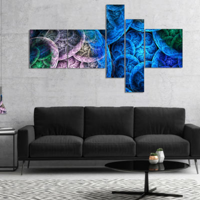 Designart Dramatic Colorful Fractal Clouds Multipanel Abstract Canvas Art Print - 4 Panels