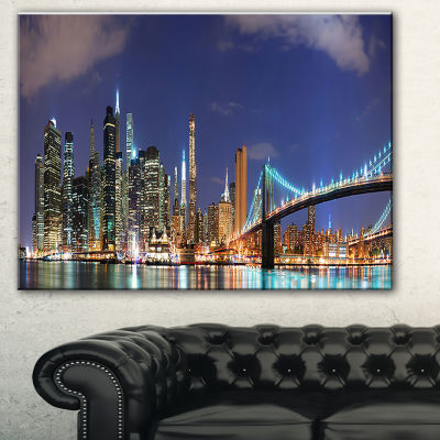 Designart Manhattan Panoramic Skyline View Cityscape Photo Canvas Print