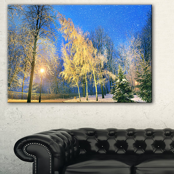 Design Art Mariinsky Garden In Severe Weather Landscape Photography Canvas Print - 3 Panels