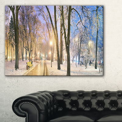 Designart Mariinsky Garden Long Shot Landscape Photography Canvas Art Print - 3 Panels
