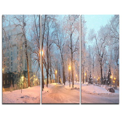 Designart Mariinsky Garden Panoramic View Landscape Photography Canvas Print - 3 Panels