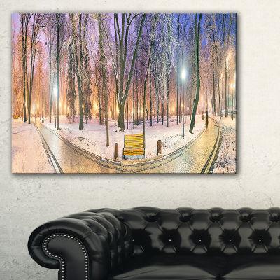 Designart Mariinsky Garden Path Panorama LandscapePhotography Canvas Print - 3 Panels
