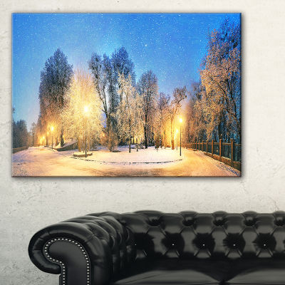 Designart Mariinsky Garden Tough Weather LandscapePhotography Canvas Print - 3 Panels