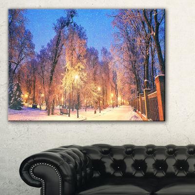 Designart Mariinsky Garden Wide View Landscape Photography Canvas Print