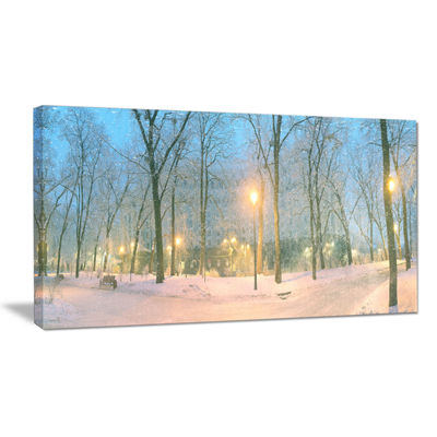 Designart Mariinsky Garden With Lights LandscapePhotography Canvas Print