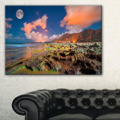 Designart Monte Cofano Nature Reserve Landscape Photography Canvas Print - 3 Panels