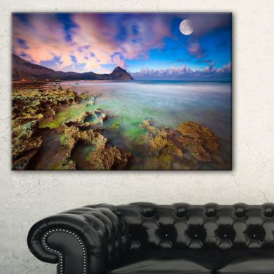 Designart Monte Cofano Reserve Landscape Photography Canvas Art Print - 3 Panels