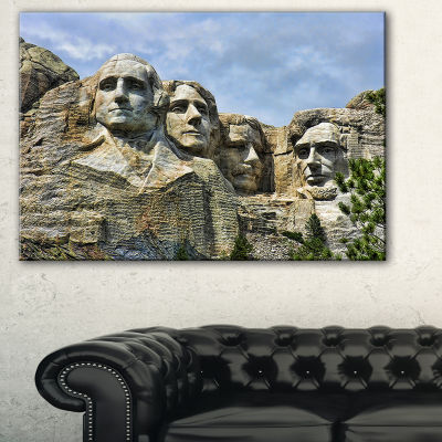 Designart Mount Rushmore South Dakota Landscape Photography Canvas Print - 3 Panels