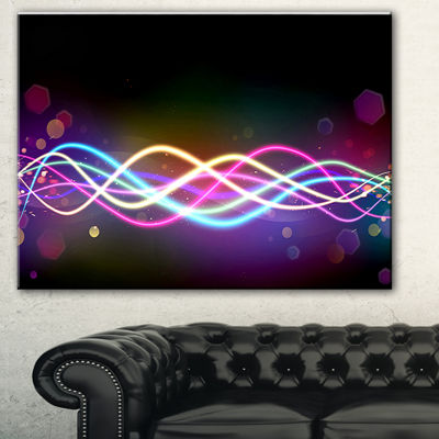 Designart Multi Colored Tangled Lines Abstract Canvas Art Print - 3 Panels