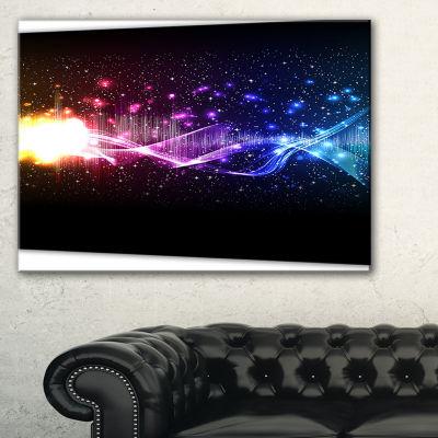Designart Music Equalizer Wave Abstract Canvas ArtPrint