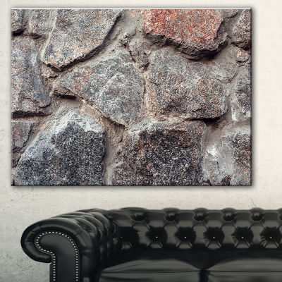 Designart Natural Granite Stone Texture LandscapePhotography Canvas Print