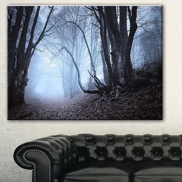 Designart Natural Landscape In Autumn Landscape Photography Canvas Print - 3 Panels
