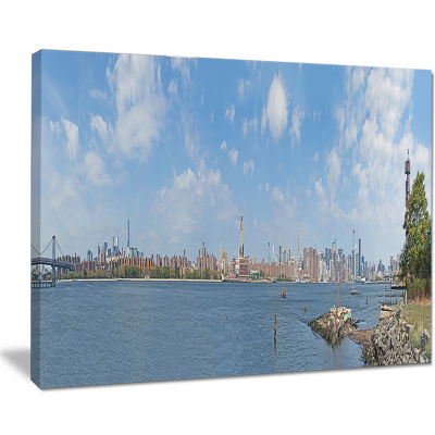 Designart New York Skyline From East River Side Cityscape Canvas Print