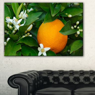 Designart Orange Blossom Portrait Canvas Art Print