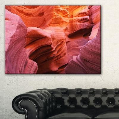 Designart Orange Red Antelope Canyon Landscape Photography Canvas Print