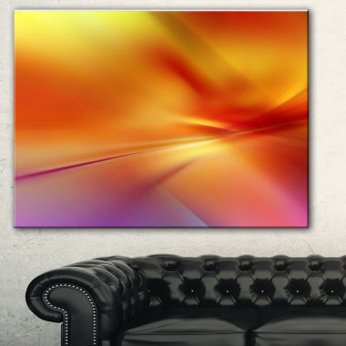 Designart Orange Red Art Abstract Canvas Art Print