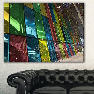 Designart Palais Des Congress De Montreal ModernCanvas Art Print - 3 Panels