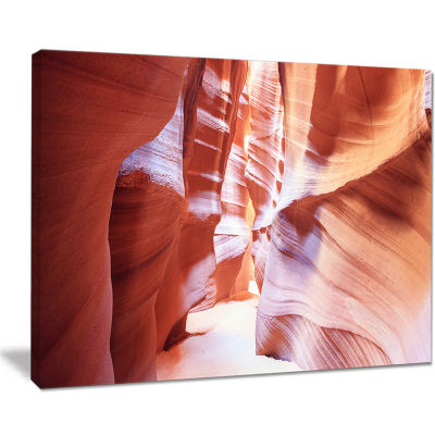 Designart Panoramic View Antelope Canyon LandscapePhotography Canvas Print