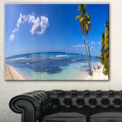 Designart Paradise Beach Panorama Landscape Photography Canvas Print - 3 Panels