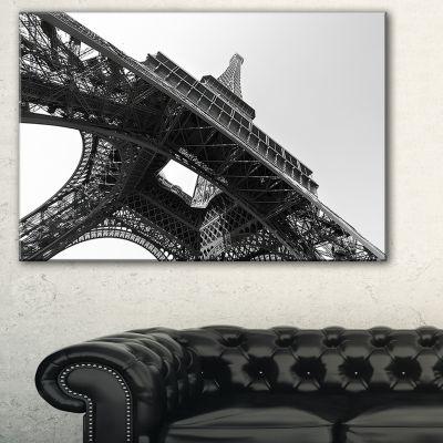 Designart Paris Eiffel Towerinto The Sky SkylinePhotography Canvas Art - 3 Panels