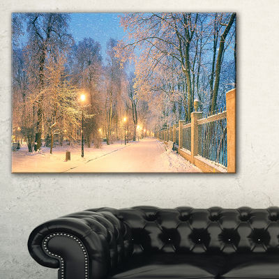 Designart Path In Mariinsky Garden Landscape PhotoCanvas Art Print - 3 Panels