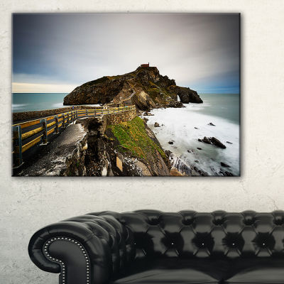 Designart Path To Cape And Chapel In Spain Seashore Photo Canvas Print