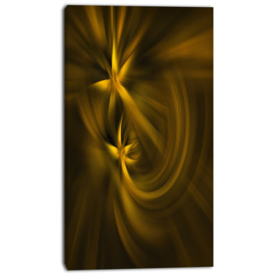 Designart Play Of Golden Stars Abstract Canvas ArtPrint