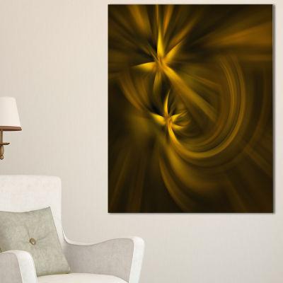 Designart Play Of Golden Stars Abstract Canvas ArtPrint - 3 Panels