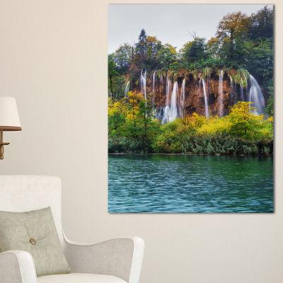 Designart Plitvice Lakes Croatia Landscape PhotoCanvas Art Print